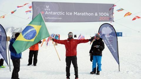 Sérgio Lopes conquistou o 13º lugar na Maratona do Gelo