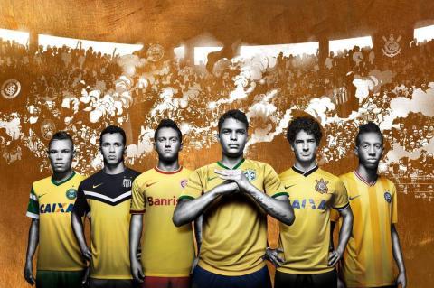 Cinco clubes brasileiros aderem ao amarelo no terceiro uniforme